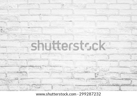 Black and white brick wall texture background / Brick wall texture - stock photo
