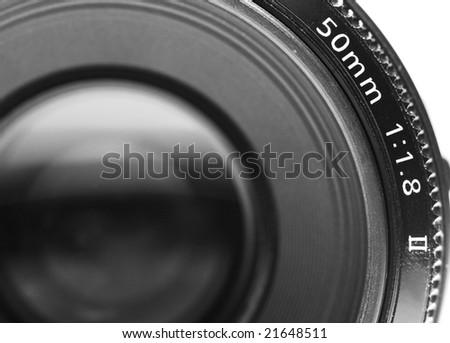 Black and White camera lens - stock photo