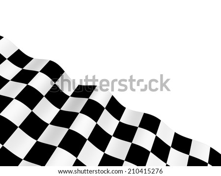 Black and white checkered flag - stock photo