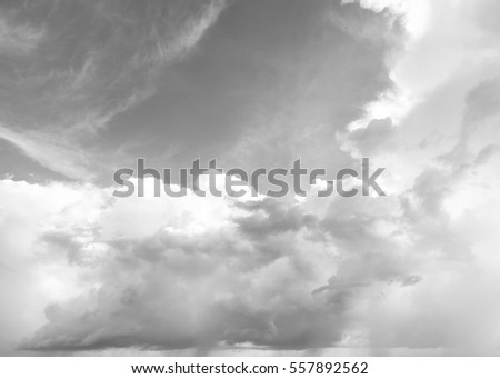 black and white cloud sky