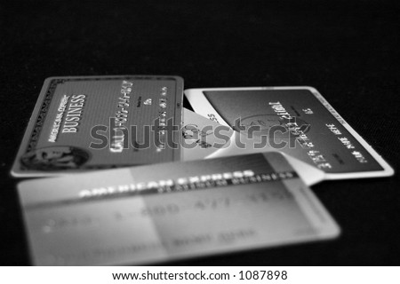 Black and white creditcards - stock photo