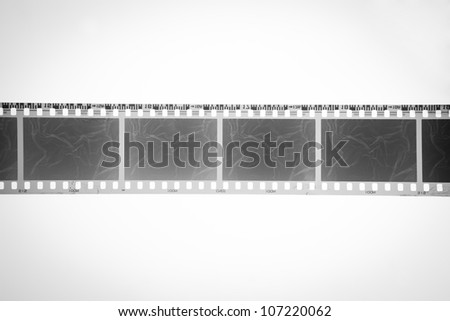 black and white film - stock photo