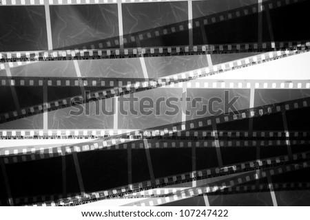 black and white film - stock photo