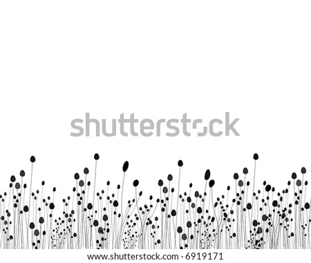 Black and white grass design