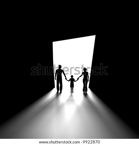Black and white image of human figure? - stock photo