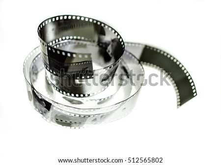 Black and white image of the old photographic film