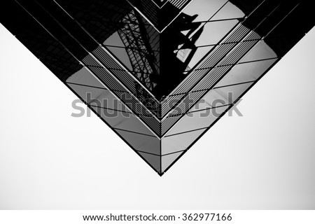 Black and White images of Commercial buildings  - stock photo
