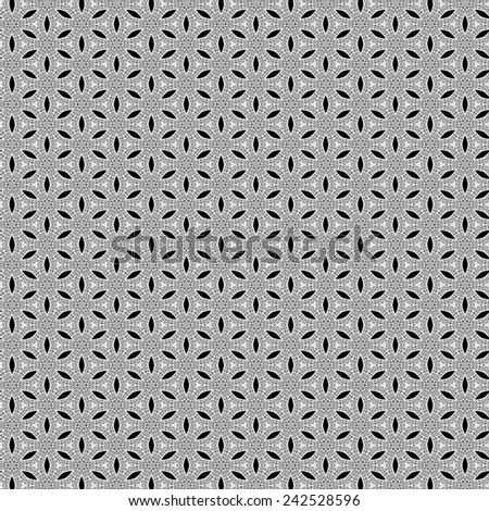 black and white lace pattern geometric - stock photo