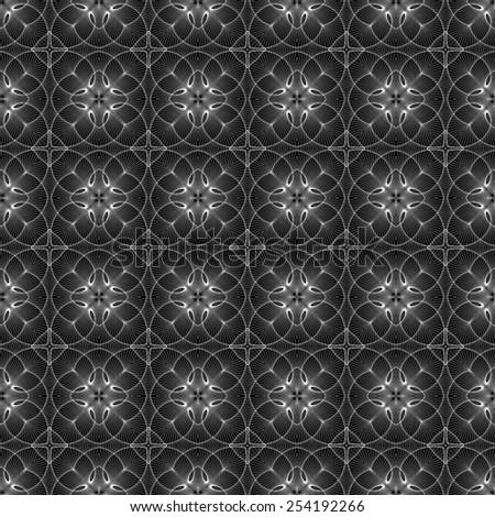 black and white lace pattern geometric - stock photo