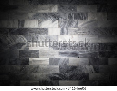 Black and White Marble texture pattern with high resolution. Gray marble walls background - stock photo