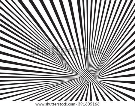 black and white mobious stripe optical art abstract design