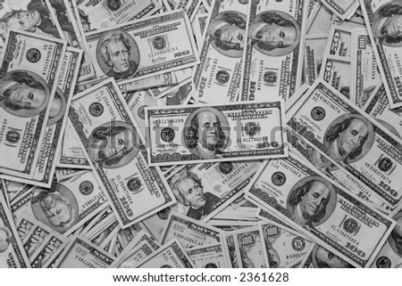 Black and white money background