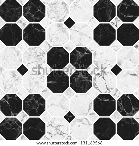 Black and white mosaic marble texture.(High.Res.) - stock photo