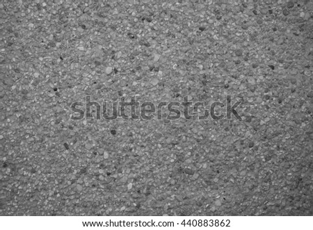 black and white of cement wall and wood floor - stock photo
