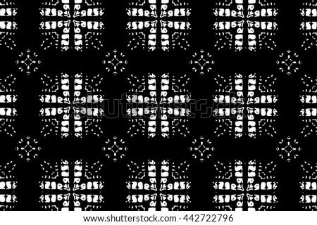 Black and white ornament. a