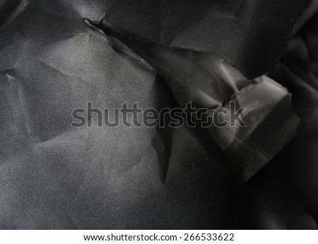 black and white paper background, creased paper texture - stock photo