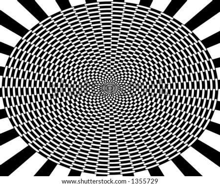 Black and White pattern - stock photo