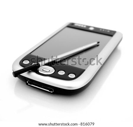 Black and White Pocket PC - stock photo
