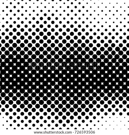 Black And White Round Spots Background Pattern. Seamless Halftone Grunge Image Backdrop. Circles, Dots, Splatter, Ink. Modern Art Poster, Cover, Banner