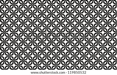 Black and white seamless pattern - stock photo