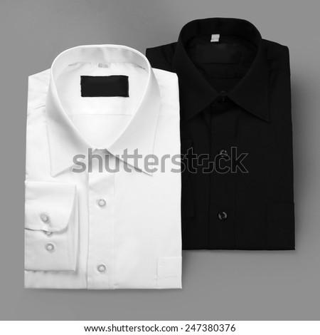 Black and white shirt - stock photo