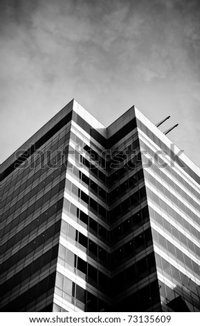 Black and white skyscraper - stock photo