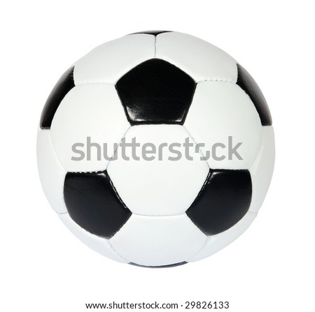 black and white soccer ball on a white background. (See more soccer ball in my portfolio)