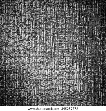 Black and White Sofa Fabric Background, Texture - stock photo