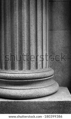 Black and white stone column
