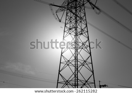 Black-and-white tower - stock photo