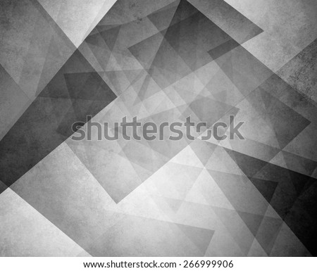 black and white triangle background. elegant layers of blocks and triangular shapes in random pattern. - stock photo