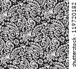 Black and White Victorian Wallpaper Background - stock photo