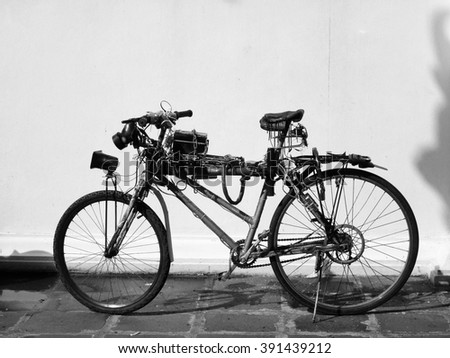 Black and white vintage bicycle