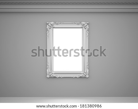 Black and white vintage concept with mirror on the wall  - stock photo