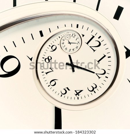 Black and white wall clock in the drost effect