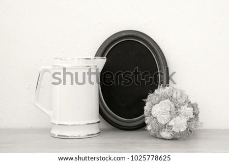 Black White White Jug Frame Photography Stock Photo (Royalty Free ...