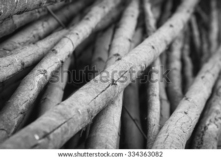 black and white wood for background and texture