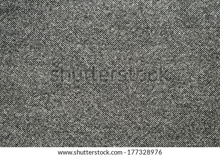 Black and white wool fabric for background - stock photo