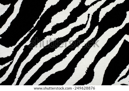 Black and white zebra pattern. Animal print as background. - stock photo