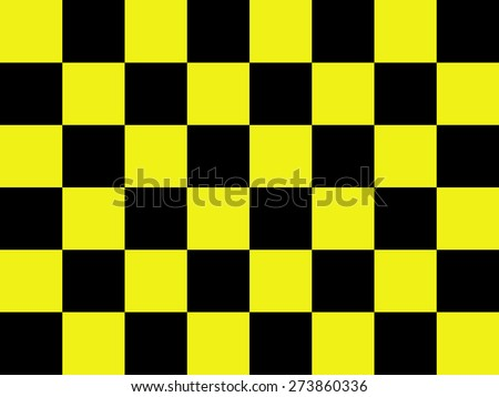 Black and yellow chess board background for design element - stock photo