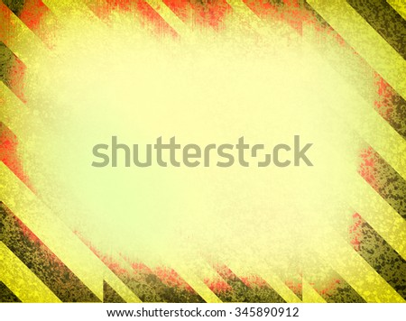 Black and yellow grunge frame, scratched background - stock photo