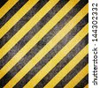 Black and yellow lines on a background grunge - stock photo