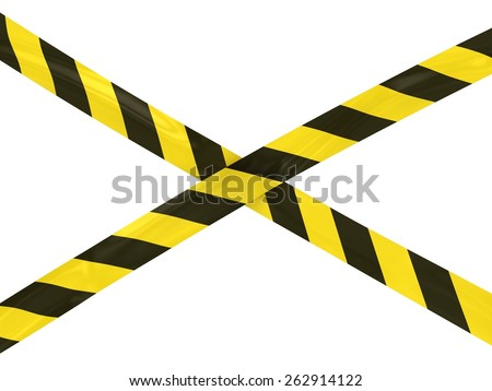Black and Yellow Striped Hazard Tape Cross