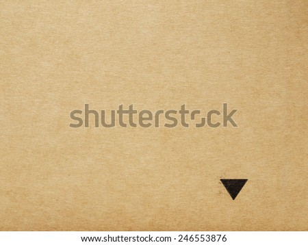 black arrows on brown paper - stock photo