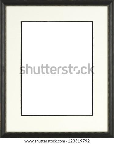 black art picture frame - stock photo