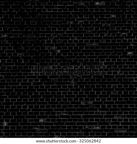 black background brick wall texture background - stock photo