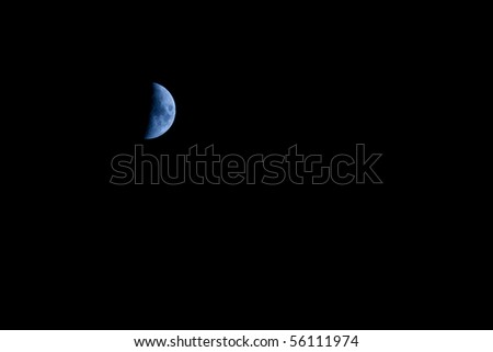 Black background of the sky with moon on it - stock photo