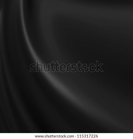Black background resembling cloth, canvas, paint, silk or satin material with waving lines - stock photo
