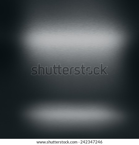 black background with abstract spotlights as theatre stage background metal texture - stock photo