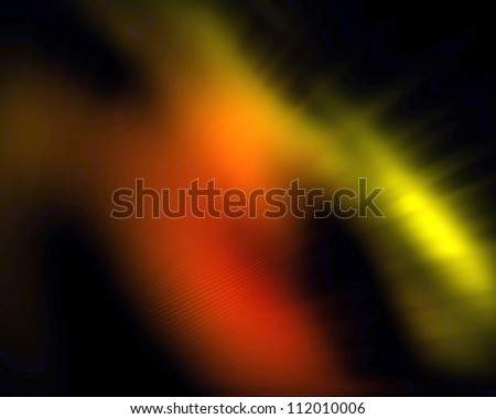 Black background with an orange form